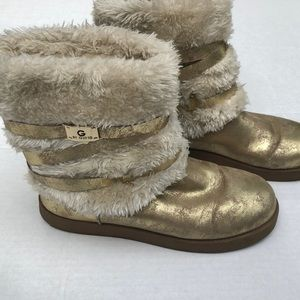G by Guess Gold Fur Boots